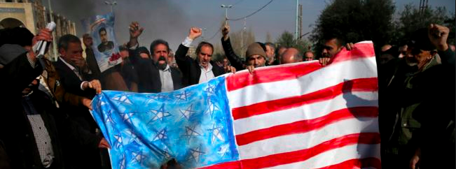 Iran - us flag